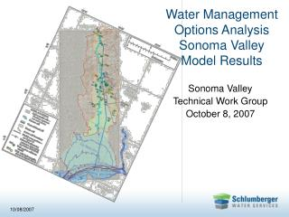 Water Management  Options Analysis  Sonoma Valley  Model Results