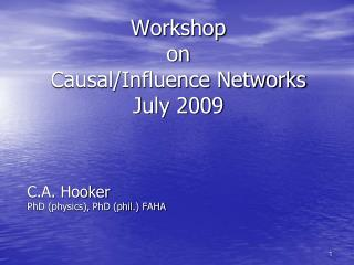 Workshop  on  Causal