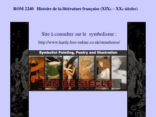 ROM 2240   Histoire de la litt rature fran aise XIXe   XXe si cles