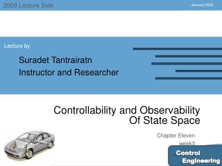 Controllability and Observability  Of State Space