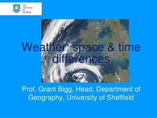 Weather: space  time differences