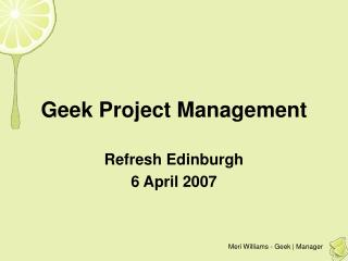 Geek Project Management