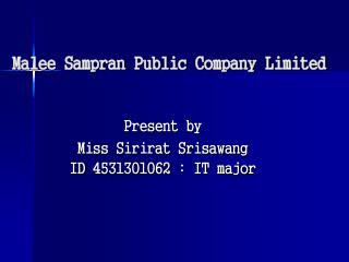 Malee Sampran Public Company Limited
