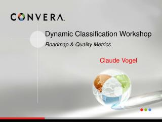 Dynamic Classification Workshop