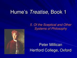 Hume s Treatise, Book 1
