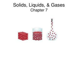Solids, Liquids,  Gases Chapter 7