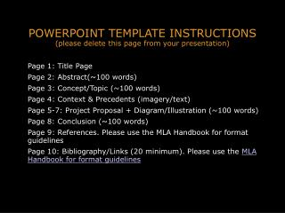 POWERPOINT TEMPLATE INSTRUCTIONS