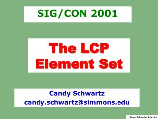 The LCP Element Set