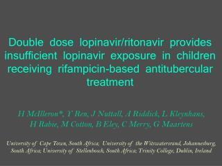 Double  dose  lopinavir