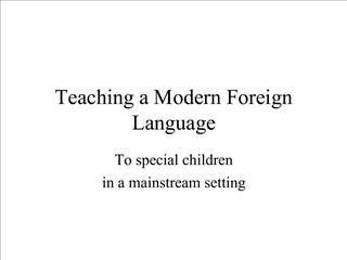 Teaching a Modern Foreign Language