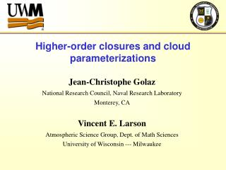 Higher-order closures and cloud parameterizations