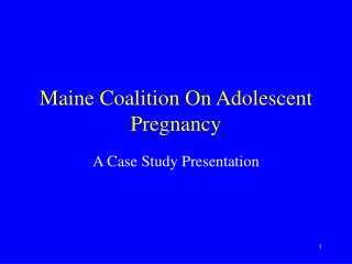 Maine Coalition On Adolescent Pregnancy