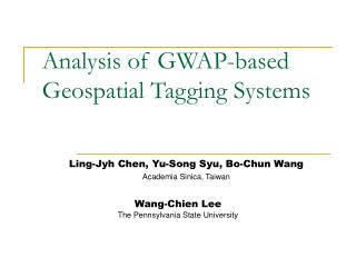 Analysis of GWAP-based Geospatial Tagging Systems