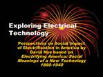 Exploring Electrical Technology