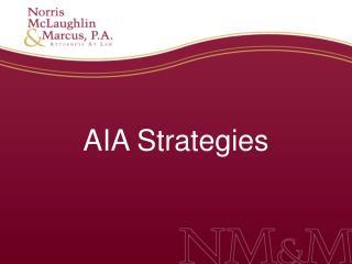 AIA Strategies