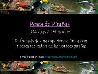 Pesca de Pira as  04 d as