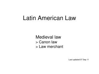 Latin American Law
