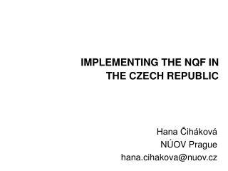 Hana Cih kov  N OV Prague hana.cihakovanuov.cz