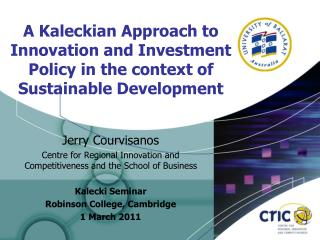 A Kaleckian Approach to Innovation and Investment Policy in the context of Sustainable Development