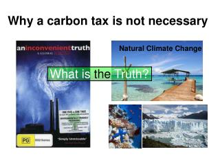 Why a carbon tax is not necessary