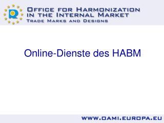 Online-Dienste des HABM
