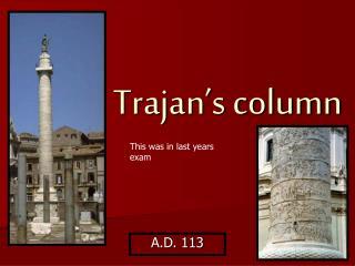 Trajan s column