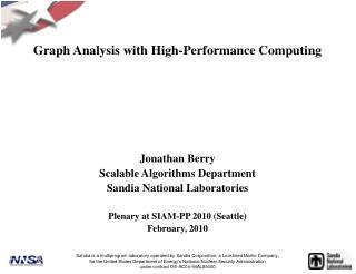 Graph Analysis with High-Performance Computing