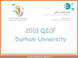 2010 QICF Durham University