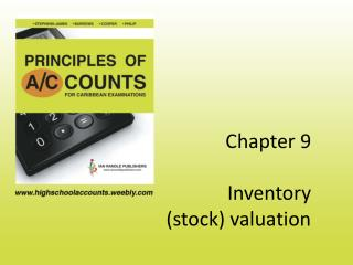 Chapter 9  Inventory  stock valuation
