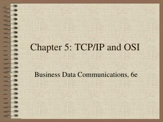 Chapter 5: TCP