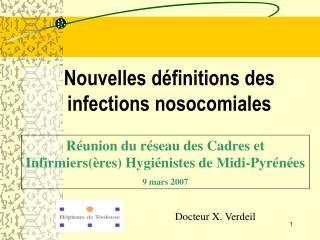 Nouvelles d finitions des infections nosocomiales