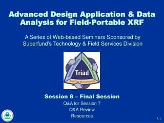 Advanced Design Application  Data Analysis for Field-Portable XRF