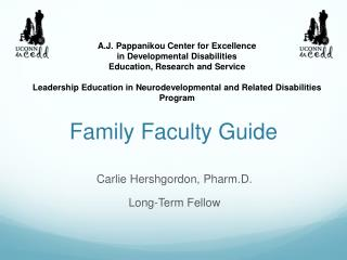 Family Faculty Guide