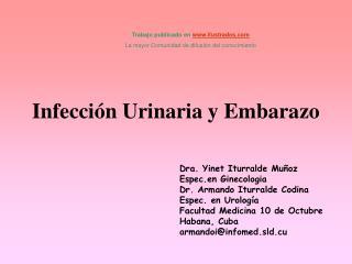 Infecci n Urinaria y Embarazo