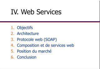 IV. Web Services