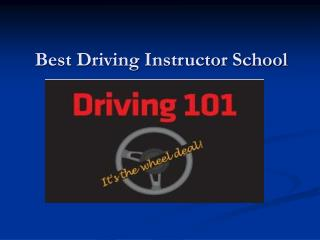 Driving Instructor School