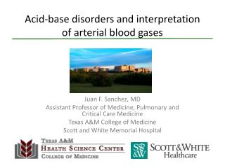 Acid-base disorders and interpretation of arterial blood gases