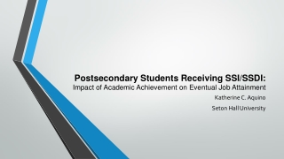 National Update on Postsecondary Education for Students with Intellectual Disabilities