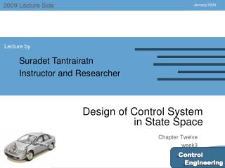 Design of Control System  in State Space