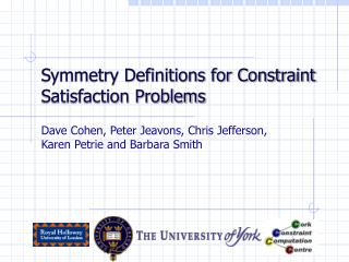 Symmetry Definitions for Constraint Satisfaction Problems
