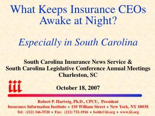 What Keeps Insurance CEOs Awake at Night