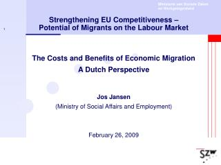 Strengthening EU Competitiveness   Potential of Migrants on the Labour Market