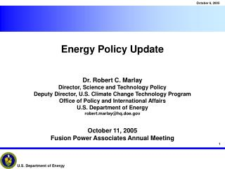 Energy Policy Update