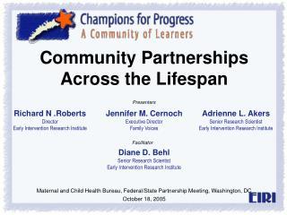 Community Partnerships Across the Lifespan