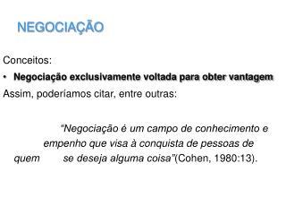 NEGOCIA  O