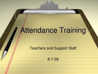 Attendance Training