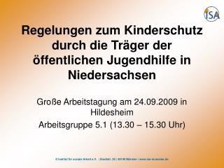 Regelungen zum Kinderschutz durch die Tr ger der  ffentlichen Jugendhilfe in Niedersachsen