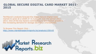 Global Secure Digital Card Market 2011-2015:MRRbiz