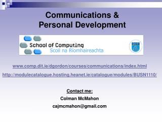 Communications   Personal Development