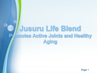 Jusuru Life Blend Promotes Active Joints and Healthy Aging